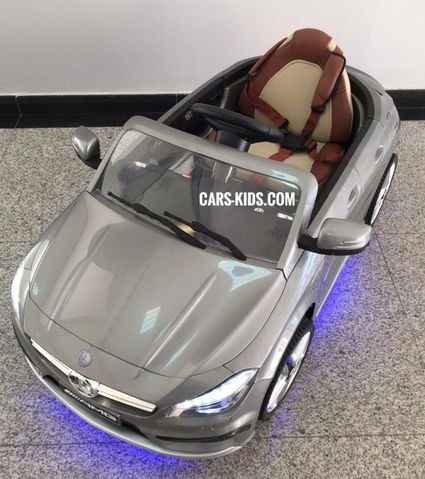 Электромобиль Mercedes Benz CLA 45 AMG (резиновые колеса, кожа, пульт, музыка)